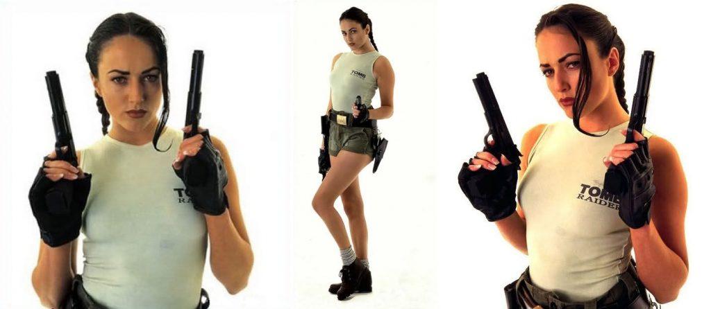 Nathalie Cook, modelo de Lara Croft.