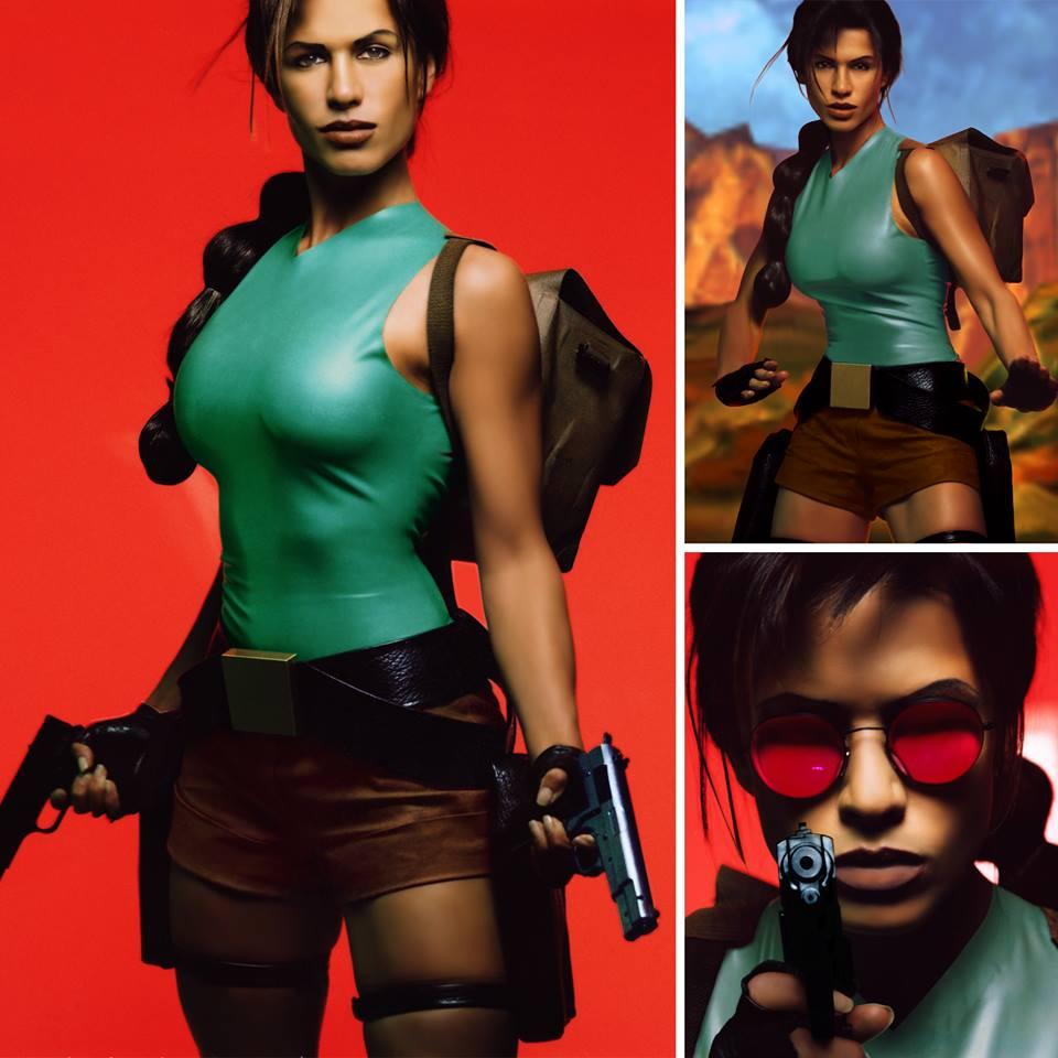 Rhona Mitra, modelo de Lara Croft.
